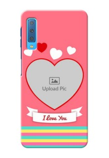 Samsung Galaxy A7 (2018) Personalised mobile covers: Love Doodle Design