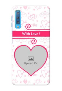 Samsung Galaxy A7 (2018) Personalized Phone Cases: Heart Shape Love Design