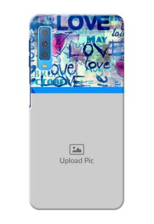 Samsung Galaxy A7 (2018) Mobile Covers Online: Colorful Love Design
