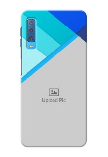 Samsung Galaxy A7 (2018) Phone Cases Online: Blue Abstract Cover Design
