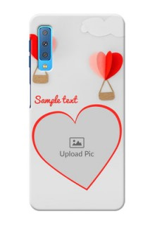 Samsung Galaxy A7 (2018) Phone Covers: Parachute Love Design
