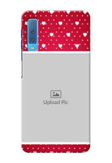 Samsung Galaxy A7 (2018) custom back covers: Hearts Mobile Case Design