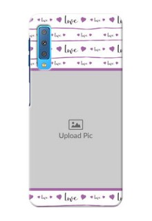Samsung Galaxy A7 (2018) Mobile Back Covers: Couples Heart Design