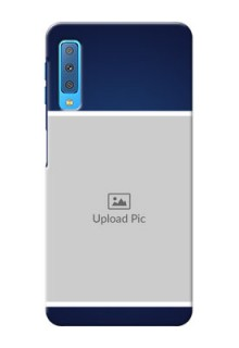 Samsung Galaxy A7 (2018) Mobile Cases: Simple Royal Blue Design