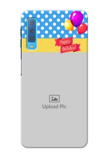 Samsung Galaxy A7 (2018) custom mobile back covers: Happy Birthday Design