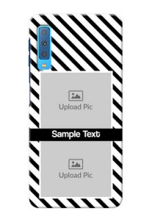 Samsung Galaxy A7 (2018) Back Covers: Black And White Stripes Design