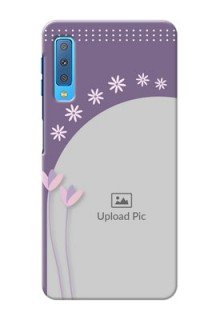 Samsung Galaxy A7 (2018) Phone covers for girls: lavender flowers design