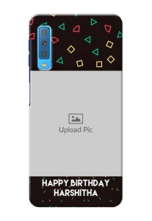Samsung Galaxy A7 (2018) custom mobile cases with confetti birthday design
