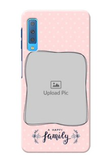 Samsung Galaxy A7 (2018) Personalized Phone Cases: Family with Dots Design