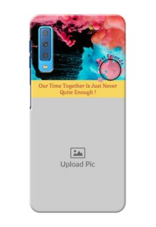 Samsung Galaxy A7 (2018) Mobile Cases: Quote with Acrylic Painting Design