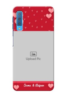 Samsung Galaxy A7 (2018) Mobile Back Covers: Valentines Day Design