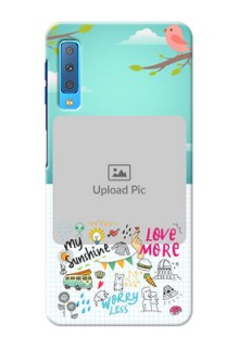 Samsung Galaxy A7 (2018) phone cases online: Doodle love Design
