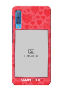 Samsung Galaxy A7 (2018) Mobile Back Covers: with Red Heart Symbols Design
