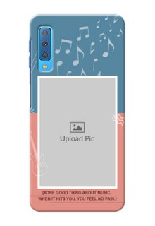 Samsung Galaxy A7 (2018) Phone Back Covers with Color Musical Note Design
