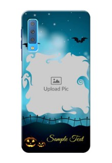 Samsung Galaxy A7 (2018) Personalised Phone Cases: Halloween frame design