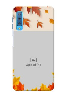 Samsung Galaxy A7 (2018) Mobile Phone Cases: Autumn Maple Leaves Design