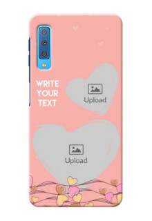 Samsung Galaxy A7 (2018) customized phone cases: Love Doodle Design