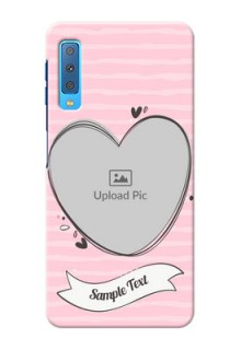 Samsung Galaxy A7 (2018) custom mobile phone covers: Vintage Heart Design