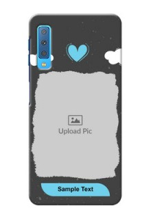 Samsung Galaxy A7 (2018) Mobile Back Covers: splashes with love doodles Design