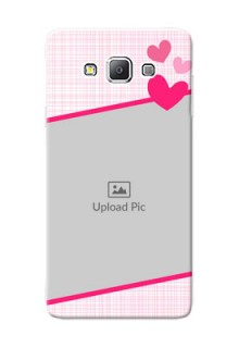 Samsung Galaxy A7 Duos Pink Design With Pattern Mobile Cover Design