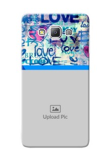 Samsung Galaxy A7 Duos Colourful Love Patterns Mobile Case Design