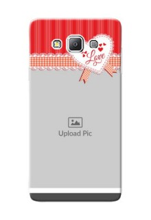 Samsung Galaxy A7 Duos Red Pattern Mobile Cover Design