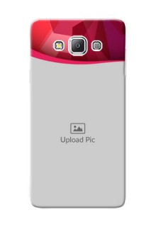 Samsung Galaxy A7 Duos Red Abstract Mobile Case Design