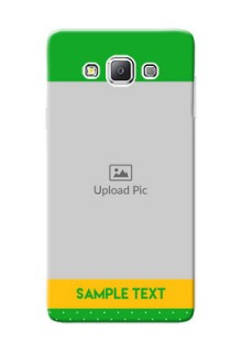 Samsung Galaxy A7 Duos Green And Yellow Pattern Mobile Cover Design