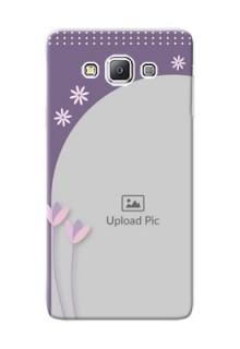 Samsung Galaxy A7 Duos lavender background with flower sprinkles Design