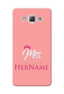 Galaxy A7 Duos Custom Phone Case Mrs with Name