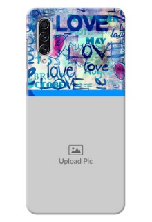 Galaxy A70 Mobile Covers Online: Colorful Love Design