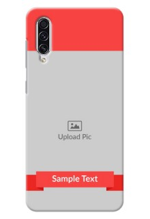 Galaxy A70 Personalised mobile covers: Simple Red Color Design