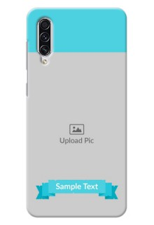 Galaxy A70 Personalized Mobile Covers: Simple Blue Color Design