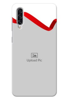 Galaxy A70 custom phone cases: Red Ribbon Frame Design