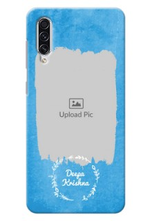 Galaxy A70 custom mobile cases: Blue Color Vintage Design