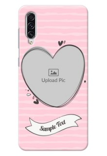 Galaxy A70 custom mobile phone covers: Vintage Heart Design