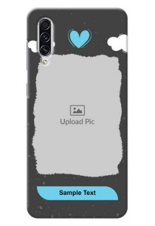 Galaxy A70 Mobile Back Covers: splashes with love doodles Design