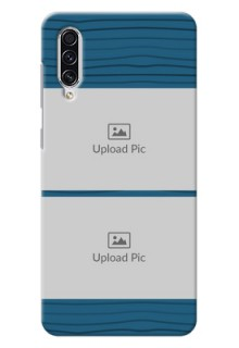 Galaxy A70s Custom Phone Cases: Blue Pattern Cover Design