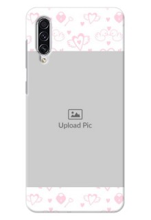 Galaxy A70s personalized phone covers: Pink Flying Heart Design