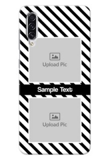 Galaxy A70s Back Covers: Black And White Stripes Design