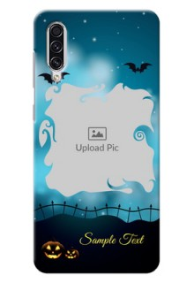 Galaxy A70s Personalised Phone Cases: Halloween frame design