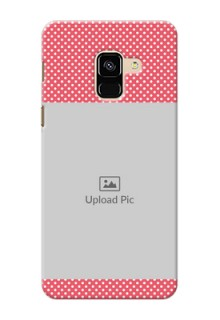 Galaxy A8 (2018) Custom Mobile Case with White Dotted Design