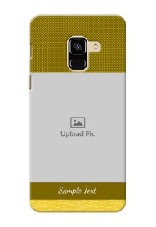 Galaxy A8 (2018) custom mobile back covers: Simple Green Color Design