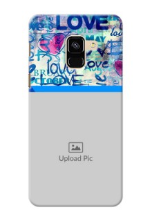 Galaxy A8 (2018) Mobile Covers Online: Colorful Love Design