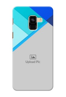 Galaxy A8 (2018) Phone Cases Online: Blue Abstract Cover Design