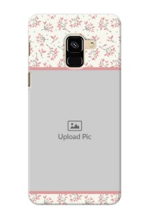 Galaxy A8 (2018) Back Covers: Premium Floral Design