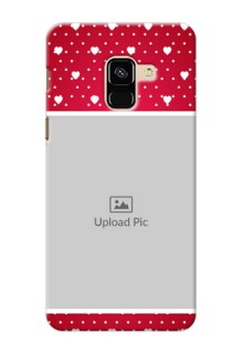 Galaxy A8 (2018) custom back covers: Hearts Mobile Case Design