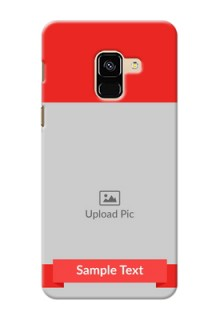 Galaxy A8 (2018) Personalised mobile covers: Simple Red Color Design