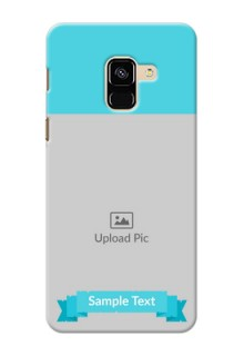 Galaxy A8 (2018) Personalized Mobile Covers: Simple Blue Color Design