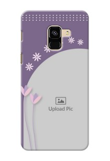 Galaxy A8 (2018) Phone covers for girls: lavender flowers design